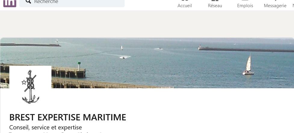 Page Linkedin Brest Expertise Maritime
